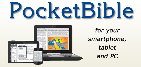 PocketBible for your smartphone, tablet and PC