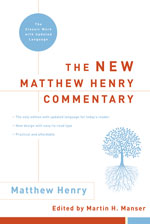 New Matthew Henry Commentary Cover